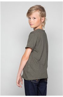 T-Shirt T-SHIRT FLAGY Garçon W18160B (39537) - DEELUXE