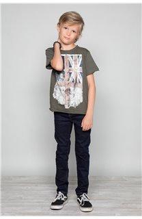 T-Shirt T-SHIRT FLAGY Garçon W18160B (39539) - DEELUXE