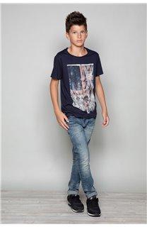 T-Shirt T-SHIRT FLAGY Garçon W18160B (39544) - DEELUXE