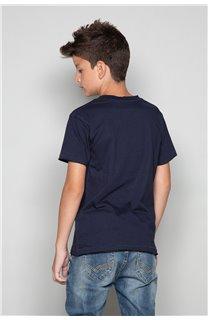 T-Shirt T-SHIRT FLAGY Garçon W18160B (39545) - DEELUXE