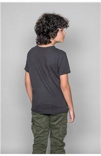 T-Shirt T-SHIRT FLAGY Garçon W18160B (39547) - DEELUXE