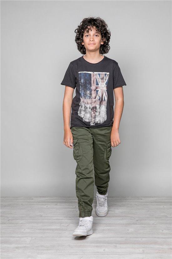 T-Shirt FLAGY Garçon W18160B (40654) - DEELUXE
