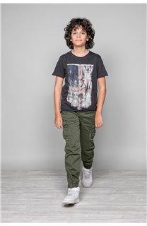 T-Shirt T-SHIRT FLAGY Garçon W18160B (39549) - DEELUXE