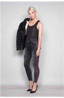 Débardeur T-SHIRT SHINY Femme W18164W (40024) - DEELUXE