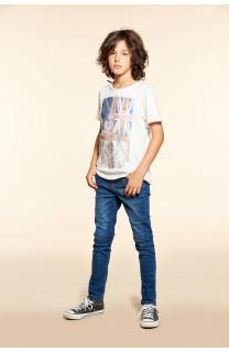 T-Shirt T-SHIRT FLAGY Garçon W18160B (40654) - DEELUXE