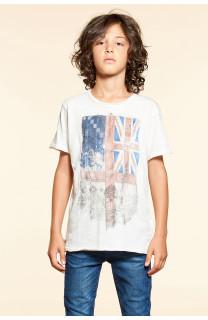 T-Shirt T-SHIRT FLAGY Garçon W18160B (40656) - DEELUXE