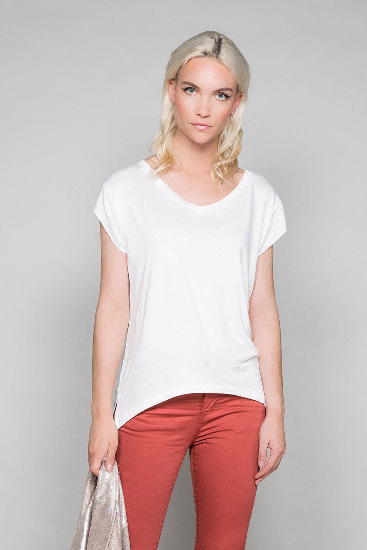 d298c7522be7f T-shirt & Top SWEET : T-shirt fluide col V - DEELUXE SHOP