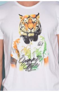 T-Shirt T-SHIRT TIGROU Homme S19144 (41835) - DEELUXE