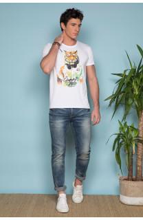 T-Shirt T-SHIRT TIGROU Homme S19144 (41836) - DEELUXE