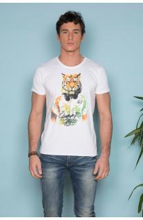 T-Shirt T-SHIRT TIGROU Homme S19144 (41837) - DEELUXE