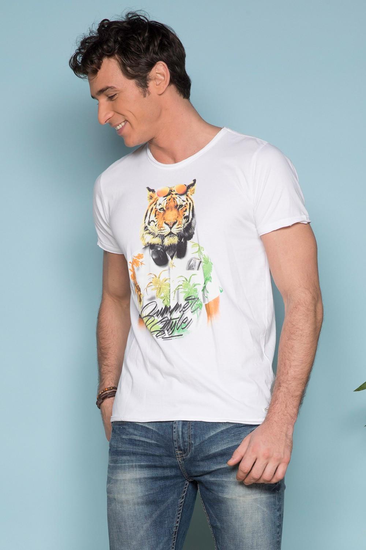T-Shirt T-SHIRT TIGROU Homme S19144 (41838) - DEELUXE