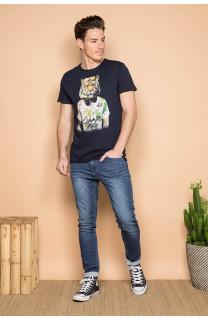 T-Shirt T-SHIRT TIGROU Homme S19144 (41842) - DEELUXE