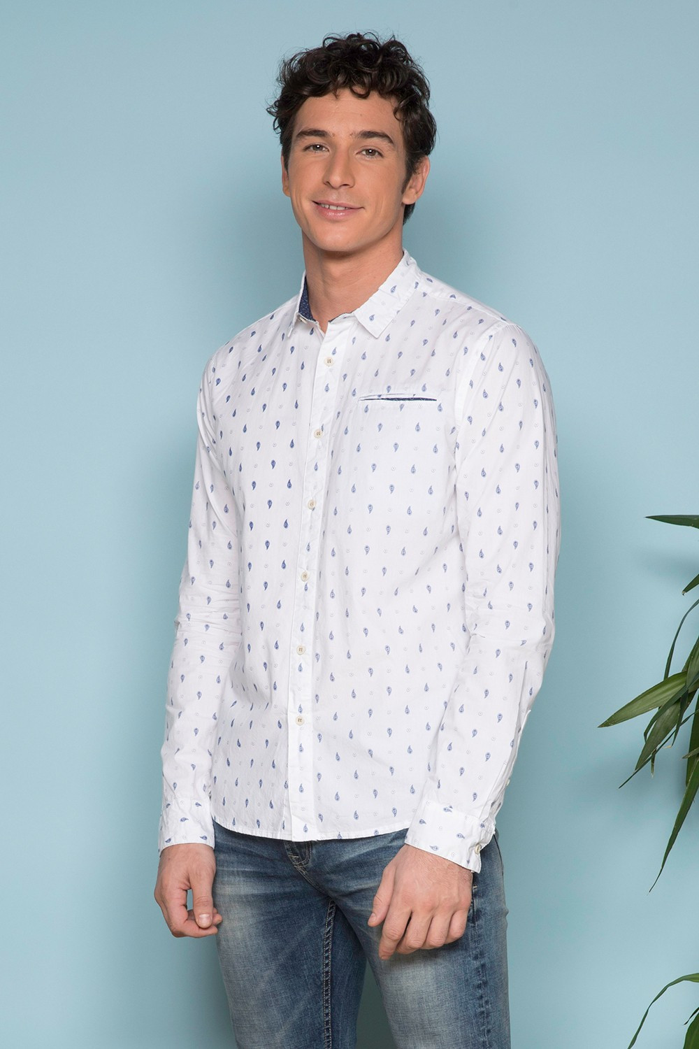 Chemise CHEMISE PAISLEY Homme S19414 (41938) - DEELUXE