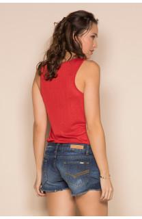 Débardeur T-SHIRT SHINY Femme S19174W (43472) - DEELUXE