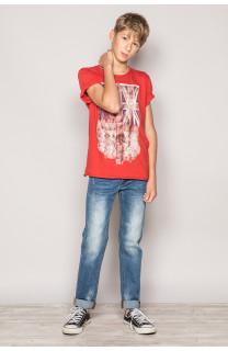 T-Shirt FLAGGY Garçon S19192B (44904) - DEELUXE