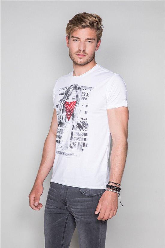 T-Shirt T-SHIRT BONNIE Homme S19182 (45034) - DEELUXE