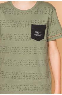 T-Shirt SCRIPT Garçon S19125B (45118) - DEELUXE
