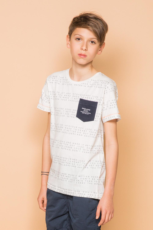 T-Shirt SCRIPT Garçon S19125B (45119) - DEELUXE