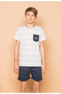 T-Shirt SCRIPT Garçon S19125B (45120) - DEELUXE