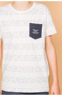 T-Shirt SCRIPT Garçon S19125B (45122) - DEELUXE