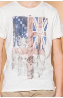 T-Shirt FLAGGY Garçon S19192B (45168) - DEELUXE