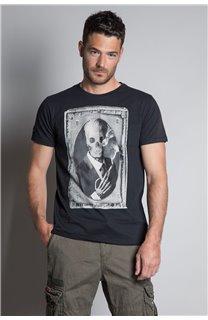 T-Shirt T-SHIRT DENIL Homme P197 (45267) - DEELUXE
