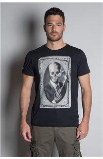 T-Shirt T-SHIRT DENIL Homme P197 (45269) - DEELUXE