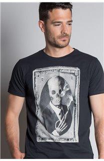 T-Shirt T-SHIRT DENIL Homme P197 (45271) - DEELUXE