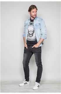 T-Shirt T-SHIRT CRYSTAL Homme P184 (45313) - DEELUXE