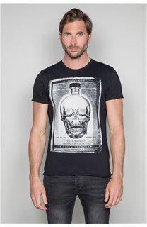 T-Shirt T-SHIRT CRYSTAL Homme P184 (45314) - DEELUXE