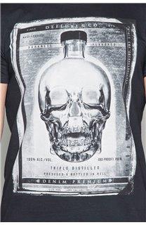 T-Shirt T-SHIRT CRYSTAL Homme P184 (45316) - DEELUXE