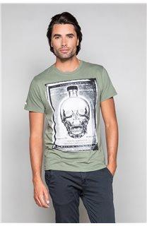 T-Shirt T-SHIRT CRYSTAL Homme P184 (45317) - DEELUXE