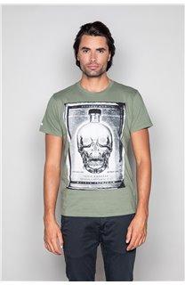 T-Shirt T-SHIRT CRYSTAL Homme P184 (45319) - DEELUXE