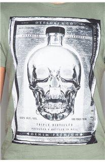 T-Shirt T-SHIRT CRYSTAL Homme P184 (45321) - DEELUXE