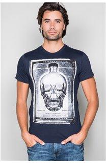 T-Shirt T-SHIRT CRYSTAL Homme P184 (45322) - DEELUXE