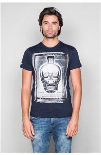 T-Shirt T-SHIRT CRYSTAL Homme P184 (45324) - DEELUXE
