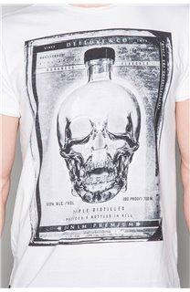 T-Shirt T-SHIRT CRYSTAL Homme P184 (45336) - DEELUXE