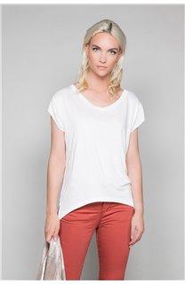 T-Shirt T-SHIRT SWEET Femme P131W (45509) - DEELUXE