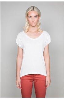 T-Shirt T-SHIRT SWEET Femme P131W (45511) - DEELUXE