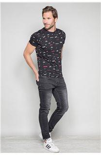 T-Shirt T-SHIRT GRANO Homme W19112 (46018) - DEELUXE