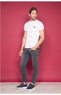 T-Shirt T-SHIRT GRANO Homme W19112 (46023) - DEELUXE