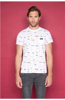 T-Shirt T-SHIRT GRANO Homme W19112 (46024) - DEELUXE