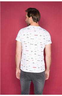 T-Shirt T-SHIRT GRANO Homme W19112 (46025) - DEELUXE