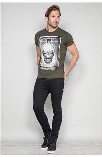 T-Shirt T-SHIRT CRYSTAL Homme P184 (46176) - DEELUXE