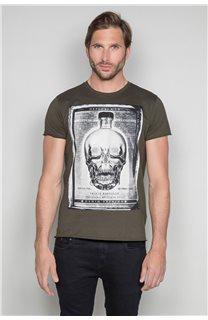 T-Shirt T-SHIRT CRYSTAL Homme P184 (46177) - DEELUXE