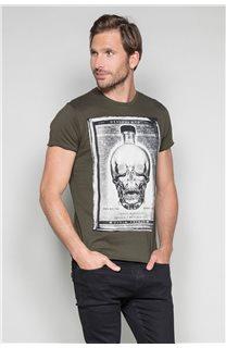 T-Shirt T-SHIRT CRYSTAL Homme P184 (46180) - DEELUXE