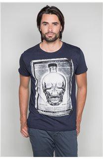 T-Shirt T-SHIRT CRYSTAL Homme P184 (46181) - DEELUXE