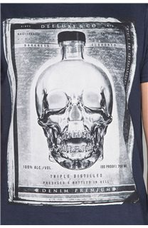 T-Shirt T-SHIRT CRYSTAL Homme P184 (46185) - DEELUXE