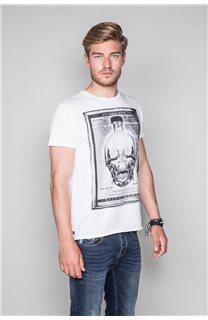 T-Shirt T-SHIRT CRYSTAL Homme P184 (46186) - DEELUXE