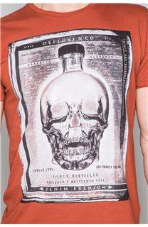T-Shirt T-SHIRT CRYSTAL Homme P184 (46194) - DEELUXE